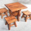 Kids Table and 4 Stools - Square