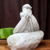 Garden Statue - Sitting Fairy on a Rock #11