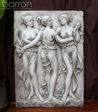 Garden Wall Plaque - Grecian Ladies