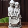 Garden Statue - Child Couple with Basket #16
