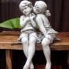Garden Statue - Child Couple Sitting #17