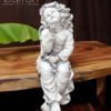 Garden Statue - Sitting Girl with Butterfly #3