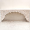 Teak Console with Vintage Carvings - 1.79m