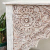 Teak Console with Vintage Carvings - 1.96m
