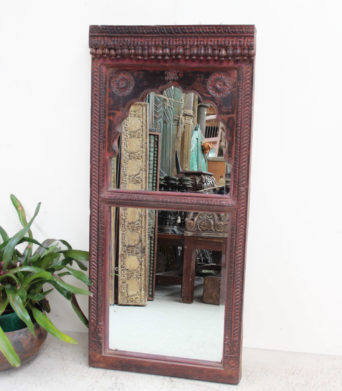 Vintage Teak Mirror from India/ A.Decor 25a - $550