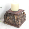 Vintage Pillar Top Candle Stand 33a