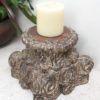 Vintage Pillar Top Candle Stand 33b