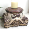 Vintage Pillar Top Candle Stand 34