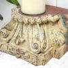 Vintage Pillar Top Candle Stand 35d