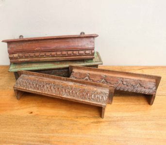 Teak Small Decorative Shelf