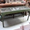 Vintage Console with Glass Top - AJ28