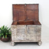 Vintage Teak Chest with Wheels - AJ7