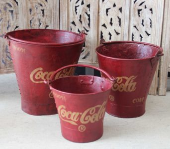 Indian Vintage 'Coca Cola' Buckets