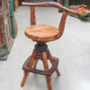 Wagon Teak Bar Stools