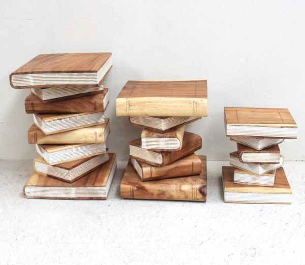 BOOK Side Table/ Stool - Natural Small