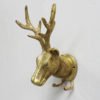 Solid Brass Stag Coat Hook