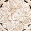 Indian Hand Carved Teak Panel - 1.5m dia