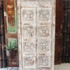Rustic White Tall Cabinet - CH18