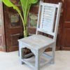 Shutter Teak Chair - Grey