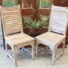 Shutter Teak Chair - White