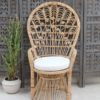 Genuine Cane Peacock Chair Small - Natural