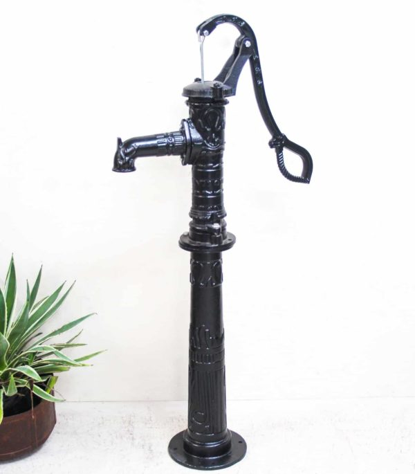 Cast Iron Water Pump - Rose on Stand - Barron Imports