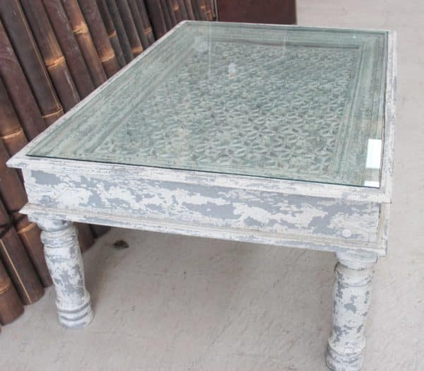 Glass Top Coffee Table - CH10 - Barron Imports
