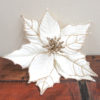 Christmas Poinsettia on Clip - Cream