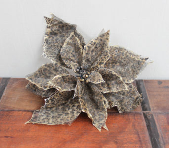 Christmas Poinsettia on Clip - Animal Print