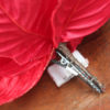 Christmas Poinsettia on Clip - Red
