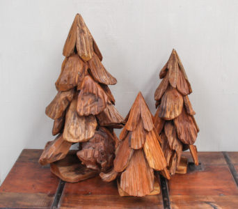 Christmas Tree Recycled Teak - Small