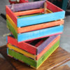 Wooden Coloured Crates