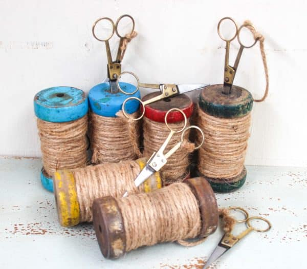 Vintage Indian Bobbin with Scissors - New Stock Arriving Soon - Barron Imports