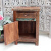 Teak Side Table - Geo