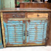 Indian Recycled Teak Sideboard with Old Shutter Doors