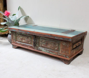 Vintage Style Indian Chest