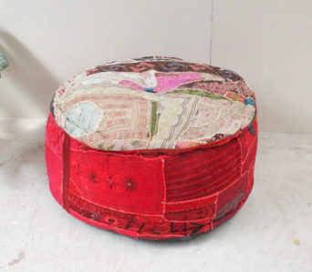 Indian Vintage Fabric Pouffe