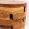 Recycled Teak 'Pieces' Stool Round