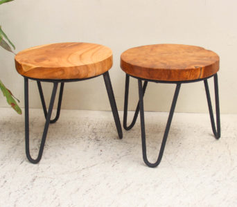 Stool - 3 Iron Legs 30cm high