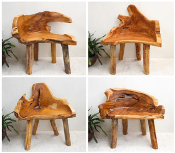 Reclaimed Teak Root - Single Seater