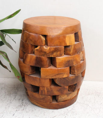 Recycled Teak 'Pieces' Stool Oval