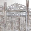 Teak Room Divider - Antique White