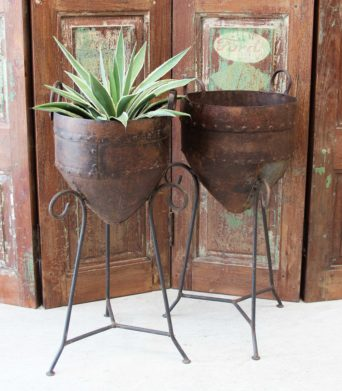Indian Iron Pot with Stand SORRY SOLD OUT