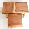 Recycled Teak Stool - Tall Square Top - Temporarily out of stock.