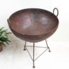 Iron Fire Pit/ Kadai from India - Medium