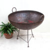 Iron Fire Pit/ Kadai from India - Large SOLD