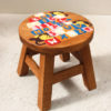 Recycled Teak Kids Stool - ABC