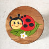 Recycled Teak Kids Stool - Lady Bird