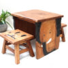 Recycled Teak Table and Stool Set - Elephant SOLD