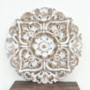 Hand Carved Wall Panel - Antique White